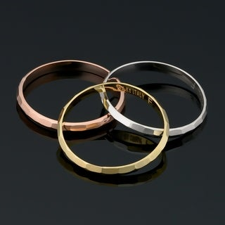 14k Yellow White or Rose Gold Diamond-cut 2 millimeter Band Ring