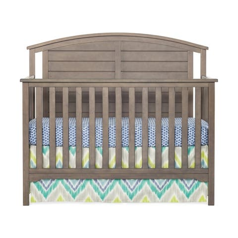 Hampton 4-in-1 Convertible Baby Crib, Curve Top by Forever Eclectic