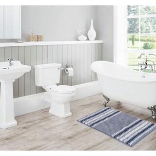Porch & Den Netarts Striped Ombre Chenille Bath Rug