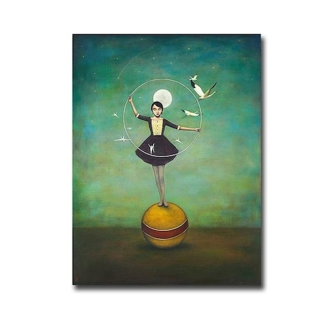 Luna's Circle by Duy Huynh Gallery Wrapped Canvas Giclee Art (32 in x 24 in)