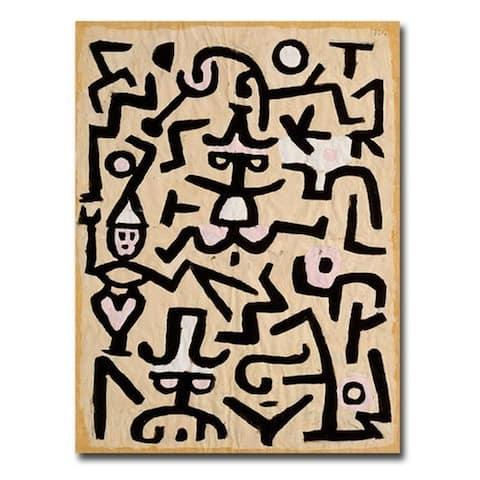 Comedians Handbill by Paul Klee Gallery Wrapped Canvas Giclee Art (32 in x 24 in)