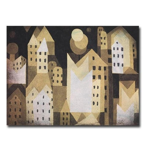 Cold City by Paul Klee Gallery Wrapped Canvas Giclee Art (24 in x 32 in)