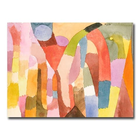 Movement of Vaulted Chambers by Paul Klee Gallery Wrapped Canvas Giclee Art (24 in x 32 in)