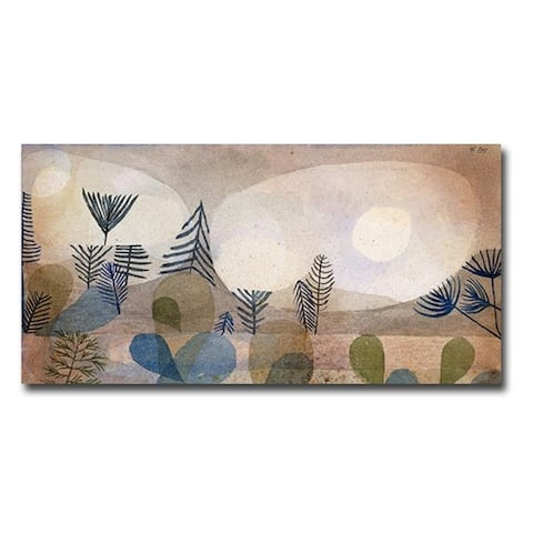 Oceanic Landscape by Paul Klee Gallery Wrapped Canvas Giclee Art (18 in x 36 in)