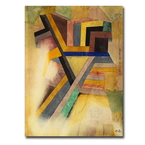 Abstract Painting by Paul Klee Gallery Wrapped Canvas Giclee Art (32 in x 24 in)