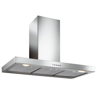 Mercurio Wall Version Hood 76cm 280cfm 2 X 20 W Halogen Lights Backlit 3 Speed Electronic Controls Overstock 29907675