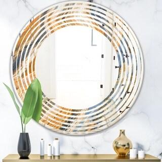 Designart 'Marbled Geode 4' Modern Round or Oval Wall Mirror - Wave