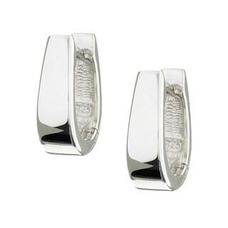 Sterling Essentials Sterling Silver U-shaped Hinged Hoop Earrings