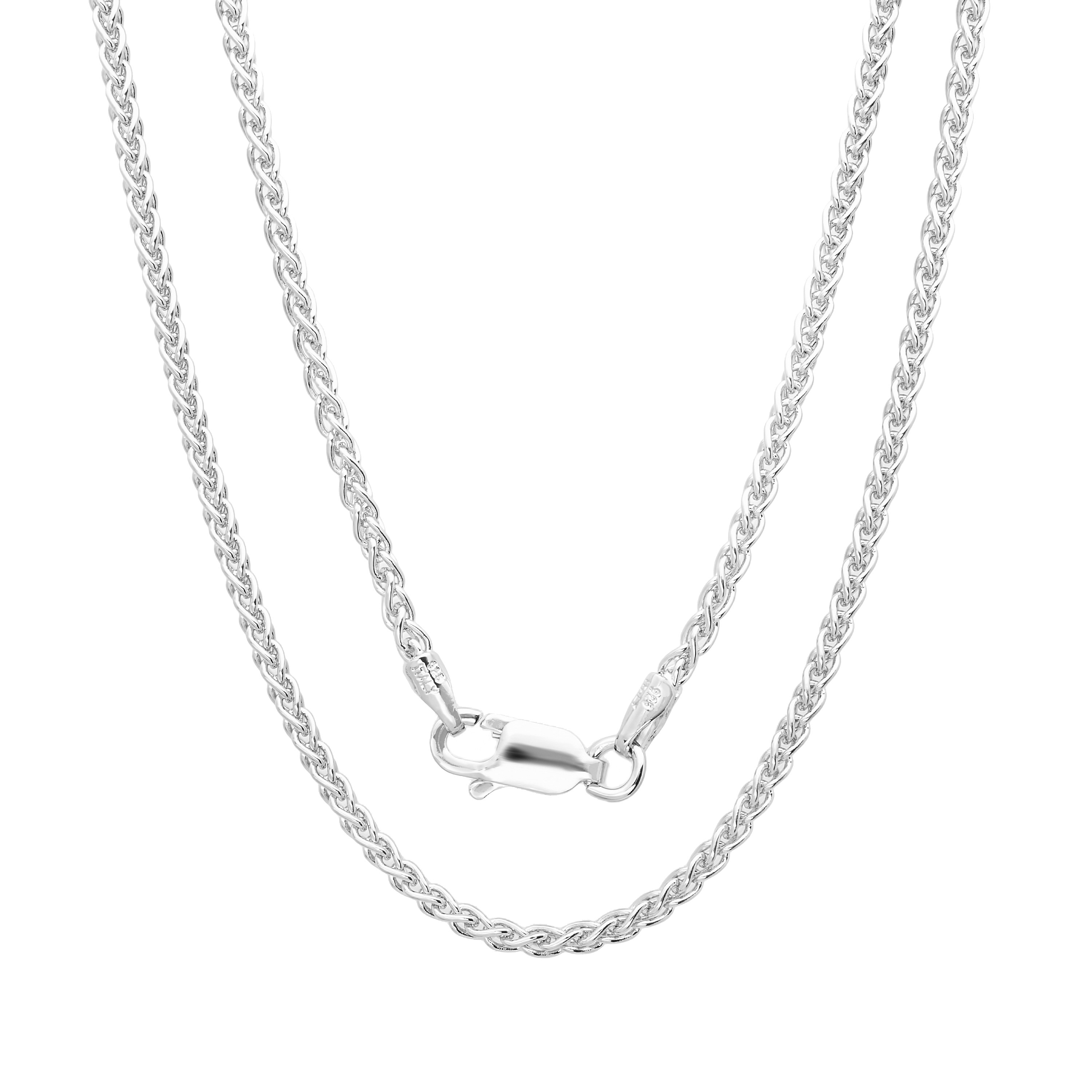 Italian Sterling Silver 1.5 mm Wheat Chain Anklet (9 Inch...