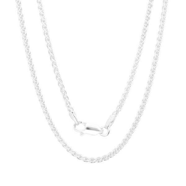 Sterling Essentials Italian Silver 1.5 mm  Wheat Chain Anklet (9 Inch)