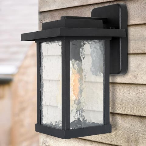 """Outdoor One light Wall Latern Black Wall Sconce Lighting - W8""""x H13.4""""x E9.8"""""""