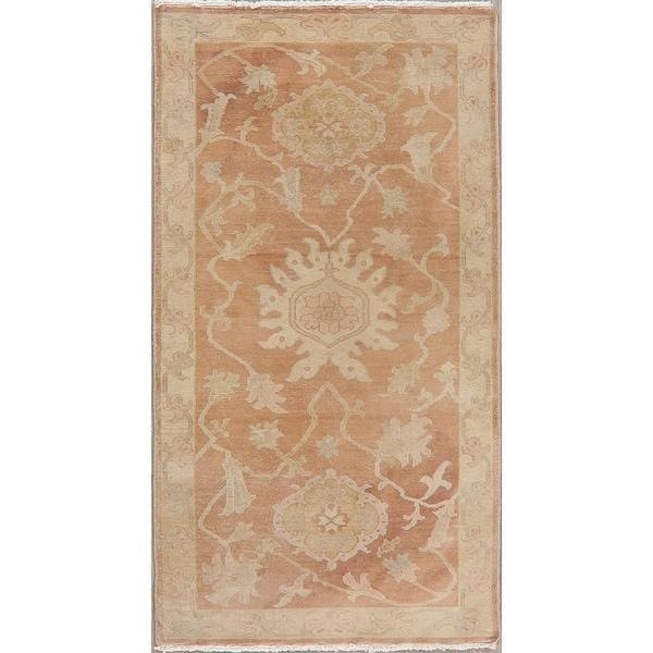 "Floral Oushak Egyptian Area Rug Handmade Oriental Rust Ivory Carpet - 2'10"" x 5'2"""