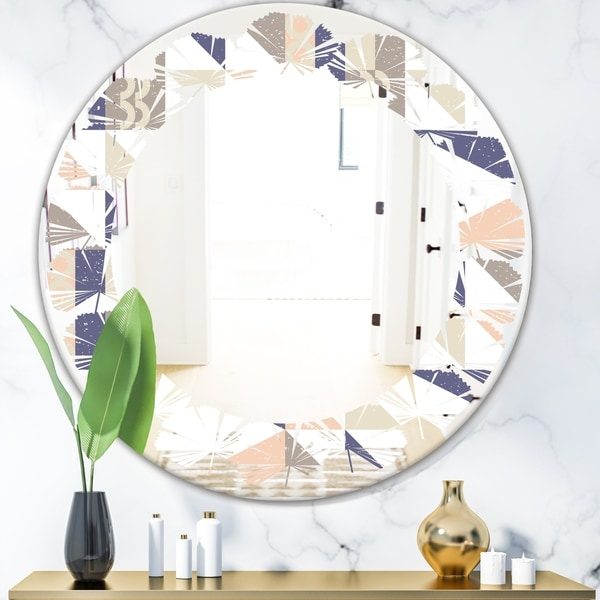 Porch Den 'Retro Geometric Design X' Wall Mirror