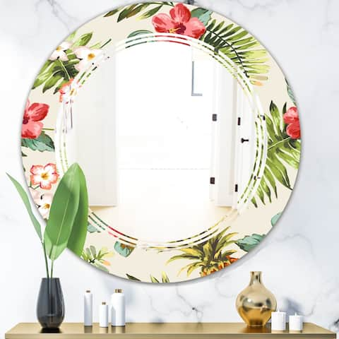 Porch & Den 'Pineapple Summer Bliss IV' Cottage Wall Mirror