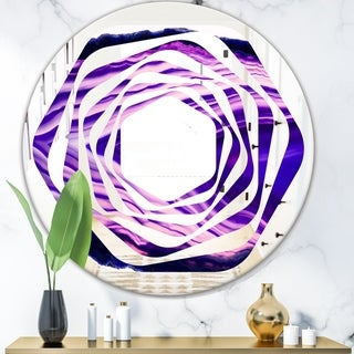 Designart 'Geode 4' Modern Round or Oval Wall Mirror - Whirl