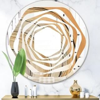 Designart 'Glam Canion II' Modern Round or Oval Wall Mirror - Whirl