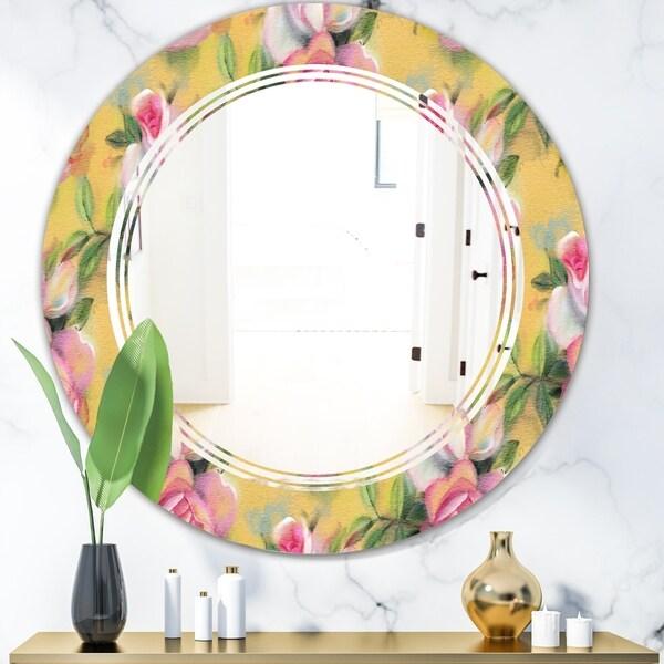 Designart 'Hand' Modern Round or Oval Wall Mirror - Triple C