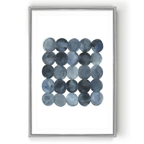 Blue Grey Density II -Custom Framed Print