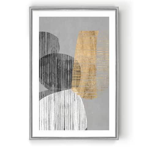Adjacent Shapes II -Custom Framed Print