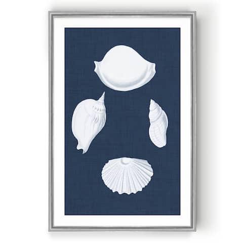 Coquillages Blancs I -Custom Framed Print