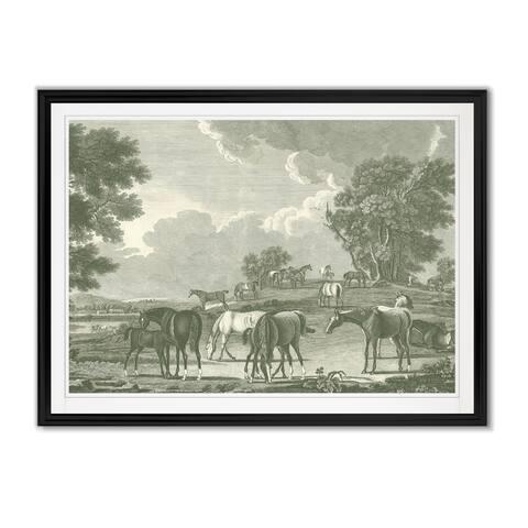 Equestrian Scenes I -Custom Framed Print