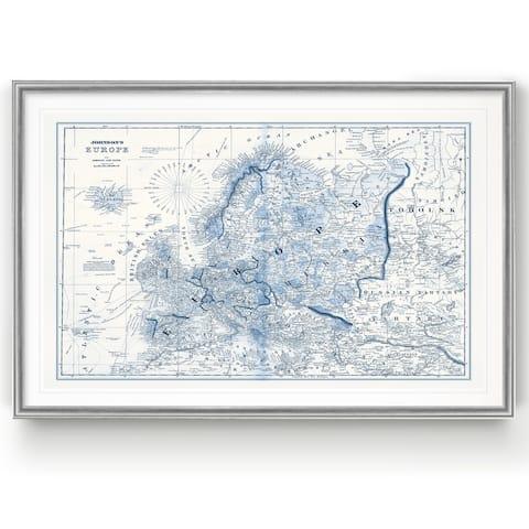 Europe in Shades of Blue -Custom Framed Print
