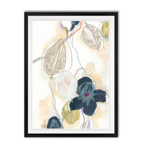 Abstracted Orchid I -Custom Framed Print