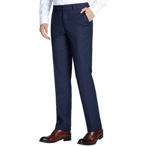 Men's Slim-fit Flat Front Suit Separate Dress Pant