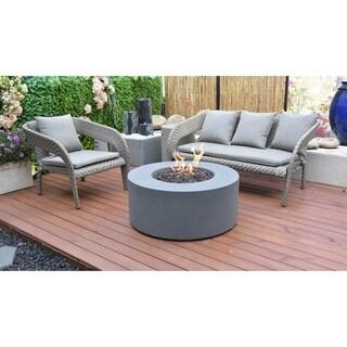 Modeno Dark gray Venice Fire Table Cast Concrete Propane assembly