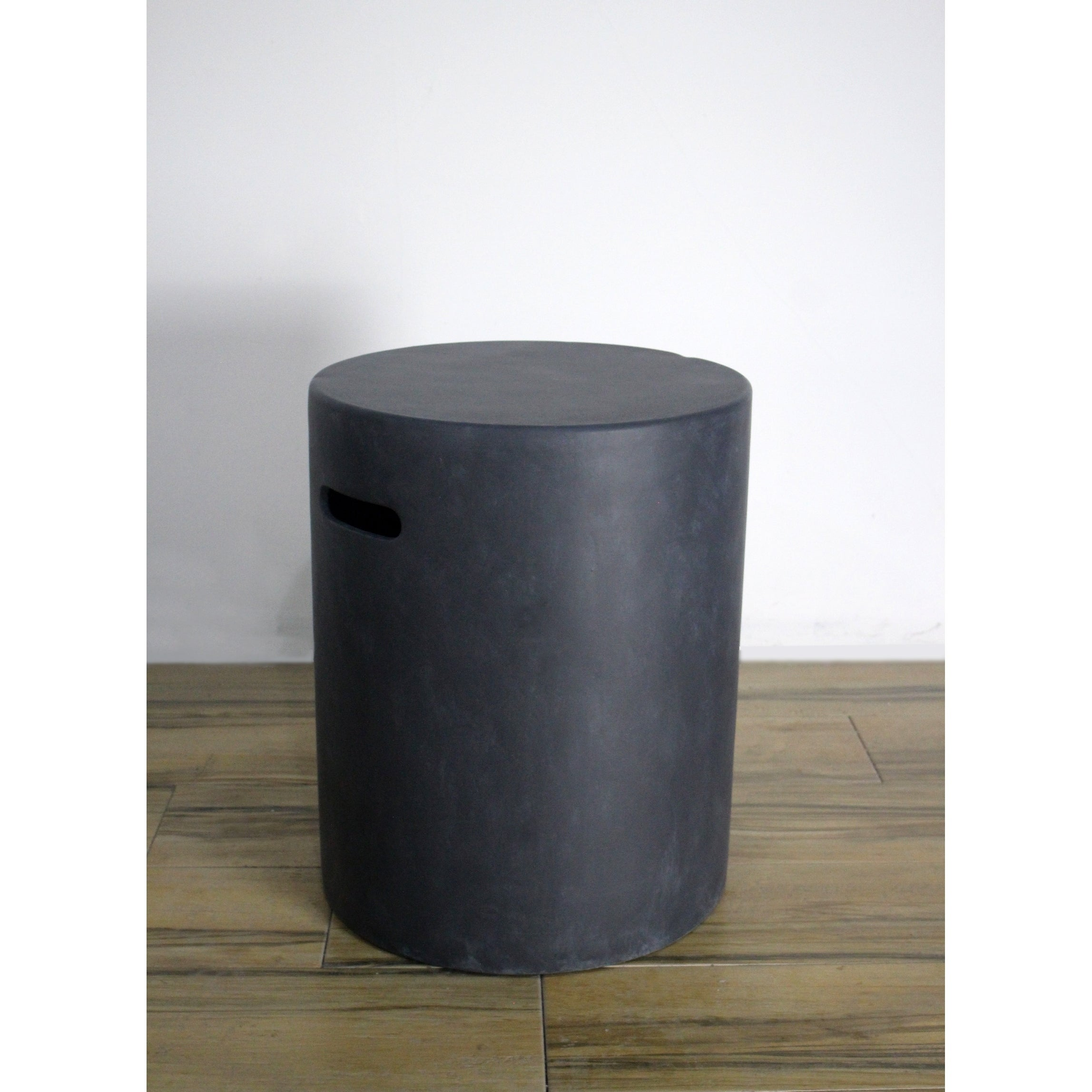 Elementi Lunar Bowl Fire Table Matched Black Round Tank Cover 20 H Overstock 29919540
