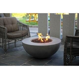 Modeno Roca Gray Concrete Fire Table Propane assembly,50,000 BTUs