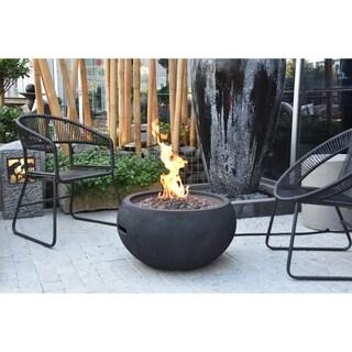Modeno York Black Concrete Fire Table Natural Gas 40,000 BTUs