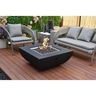 Modeno Aurora Honed Black  Concret Fire Table Natural Gas assembly