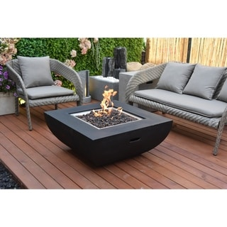 Modeno Aurora Honed Black  Concret Fire Table Propane assembly