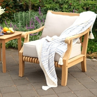 Cambridge Casual Kokomo Teak Patio Lounge Chair with  Cushion