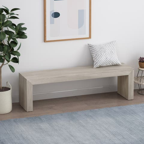 Pannell Farmhouse Acacia Wood Dining Bench by Christopher Knight Home
