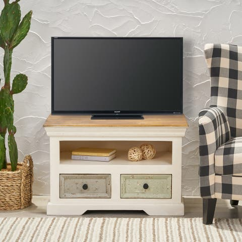Packard Boho Mango Wood 2 Drawer TV Cabinet by Christopher Knight Home