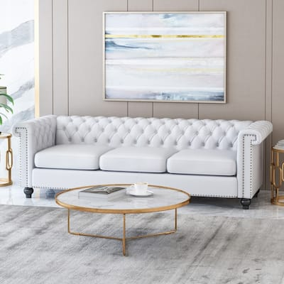 Tufted Back White Sofas Couches
