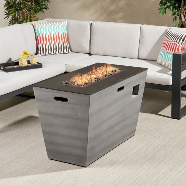 """Langton Outdoor 40-Inch Rectangular Fire Pit by Christopher Knight Home - 40.10"""" W x 20.10"""" L x 24.00"""" H"""