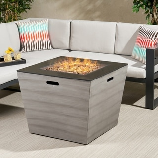 "Langton Outdoor Modern 30-Inch Square Fire Pit by Christopher Knight Home - 30.00"" W x 30.00"" L x 24.00"" H"