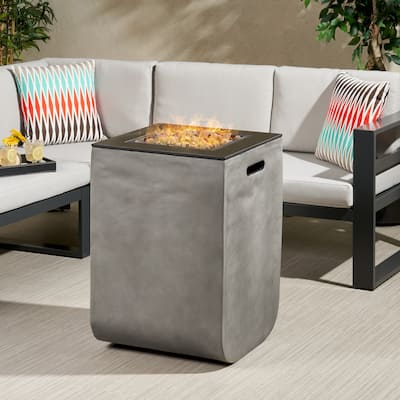 """Adio Outdoor Modern 19.5-Inch Fire Column by Christopher Knight Home - 19.50"""" W x 19.50"""" L x 28.50"""" H"""