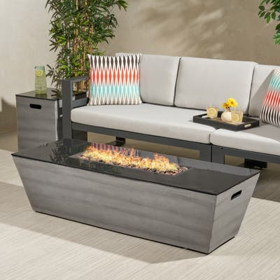 """Langton 56-Inch Fire Pit and Tank Holder by Christopher Knight Home - 16.00"""" W x 16.00"""" L x 20.00"""" H"""