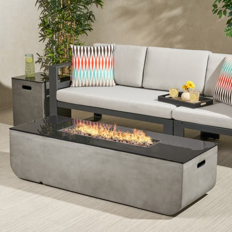 """Adio Outdoor Fire Pit with Tank Holder by Christopher Knight Home - 16.00"""" W x 16.00"""" L x 20.00"""" H"""