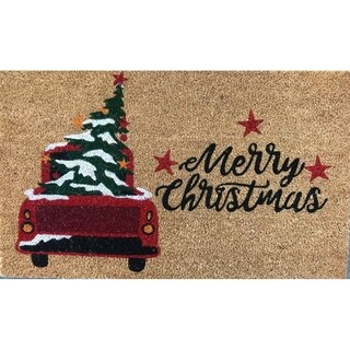 Merry Christmas Tree Non-Slip Outdoor Door Mat