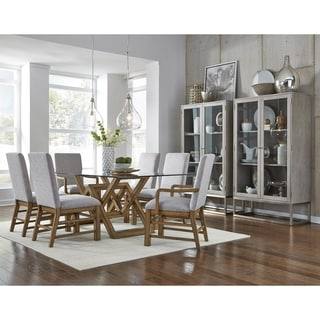 Modern Wood and Glass Dining Table