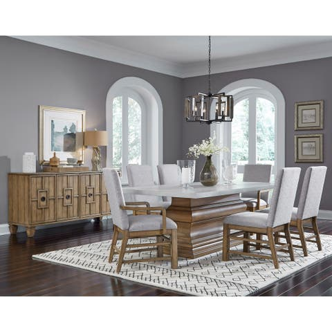 Rectangular Dining Table with Crown Molding Base