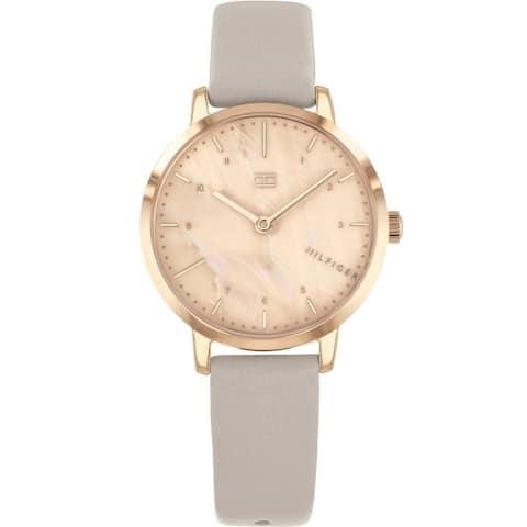Tommy Hilfiger Rose Gold-Tone Leather Ladies Watch 1782039