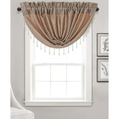 Gracewood Hollow Barot Textured Jacquard with Swag Valance (48 x 37 in.)