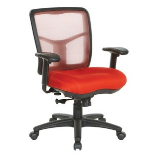Breathable Mesh Back Office Chair with Upholstered Fabric Seat