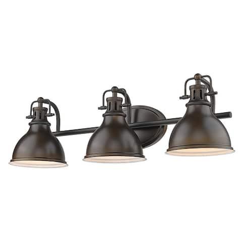 Copper Grove Artik 3-light Industrial Bronze Bathroom Light Fixture